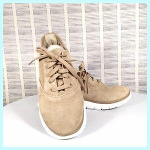 Vionic Tan Suede Orthopedic Sneakers